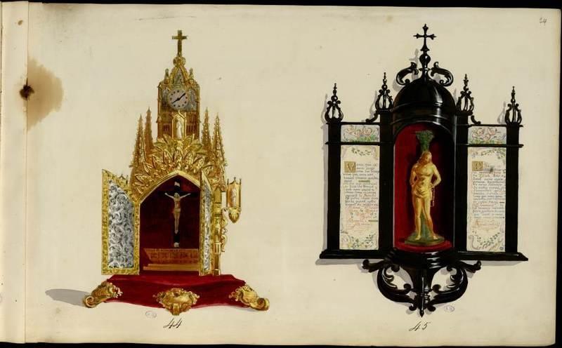"""""""Crucifix et Christ à la Colonne."""" 1852-70. French."""