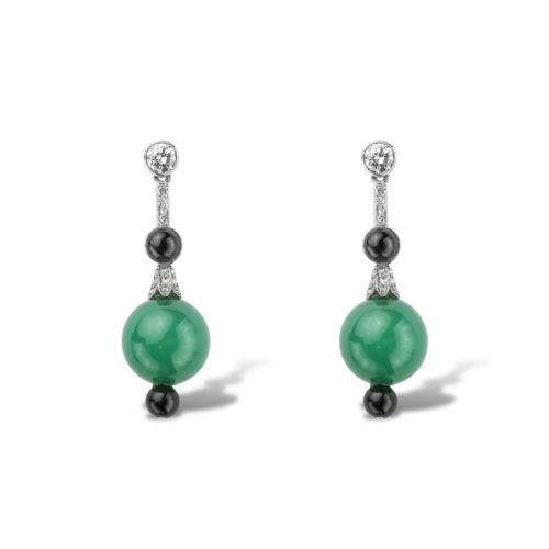 Drop earrings. 1930s. Art Deco in style.