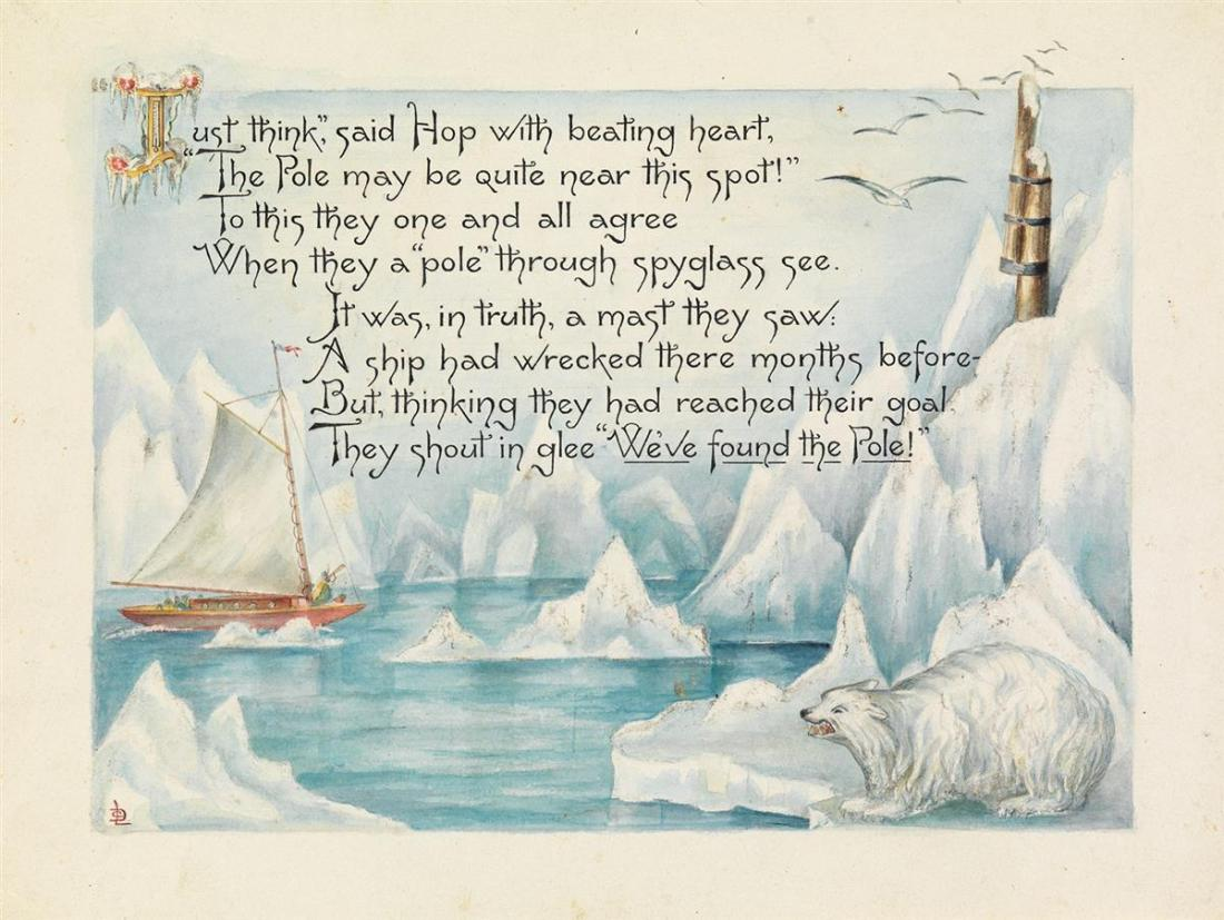 """North Pole Expedition with poem and polar bear."