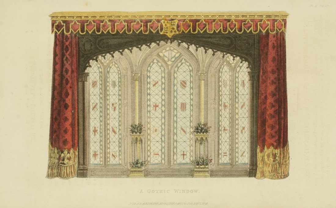 A Gothic window. Plate 11. 1826.