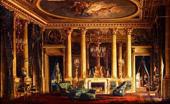 """A Salon in the Hotel of Monsieur Basile Parent, Place Vendome, Paris."""""""