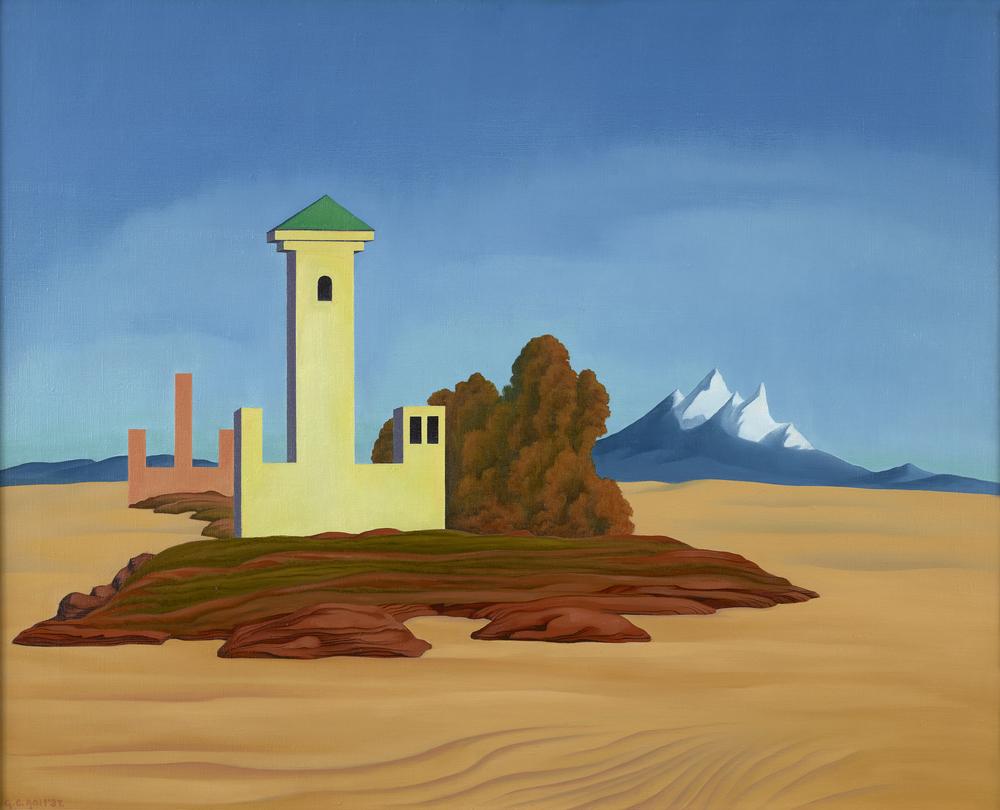 """""""Desert Towers."""" 1937."""