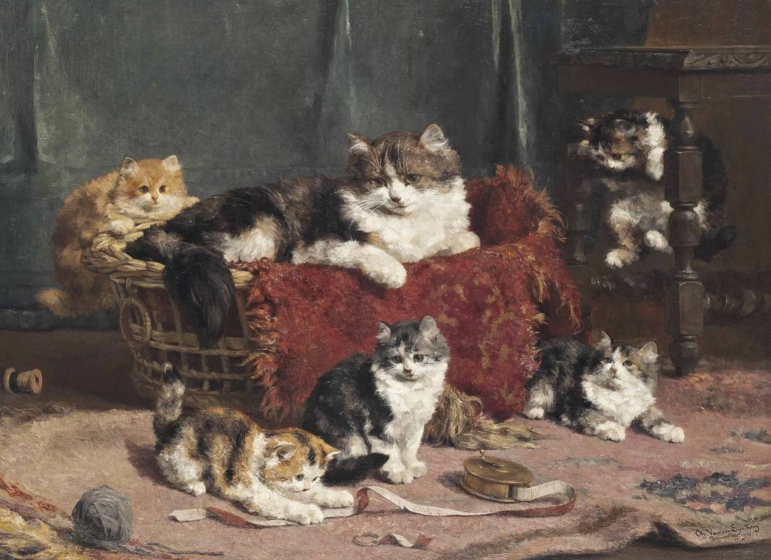 """Playtime."" 1910. Oil on canvas."
