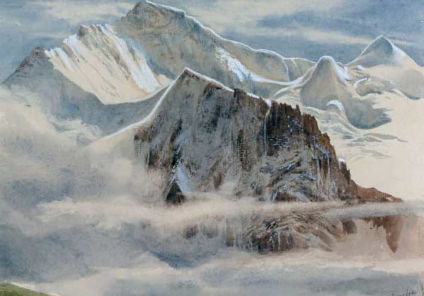 """View of the Jungfrau."" No exact date."