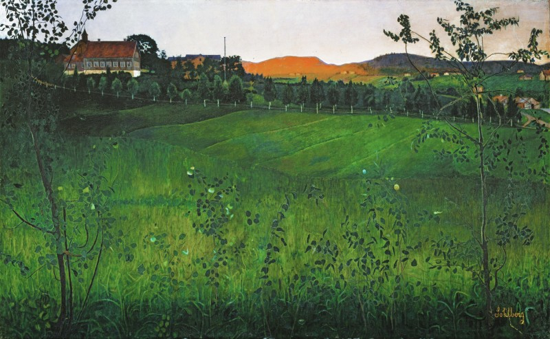 """Modne Jorder"" (Ripe Fields). No date. Oil on canvas."
