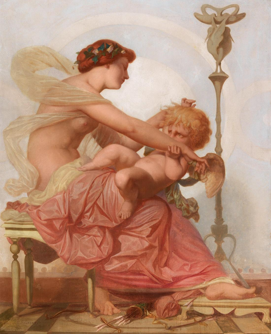 """Cupid and Psyche."" 1879. Oil on canvas."