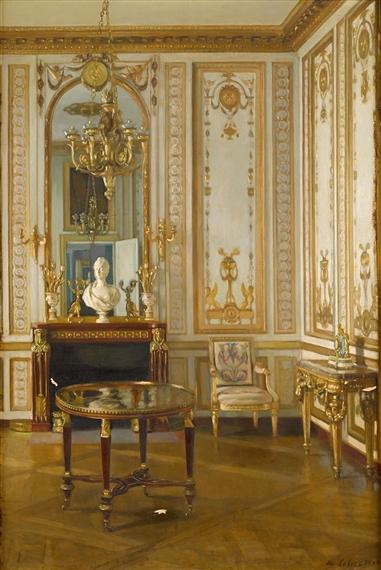 Chateau de Versailles, said to be Marie Antoinette's study. 1895.