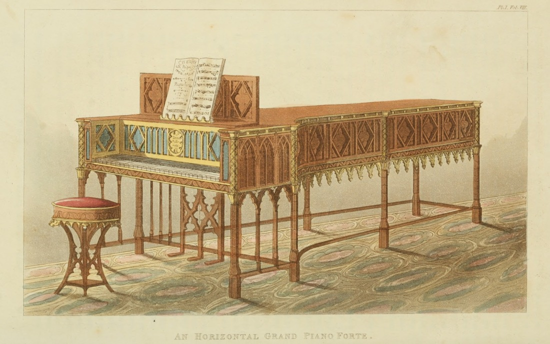 Horizontal grand piano forte. Plate 5. 1826.