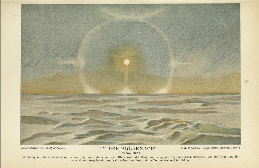 """""""In der Polarnacht"""" (24 Nov. 1883)."""