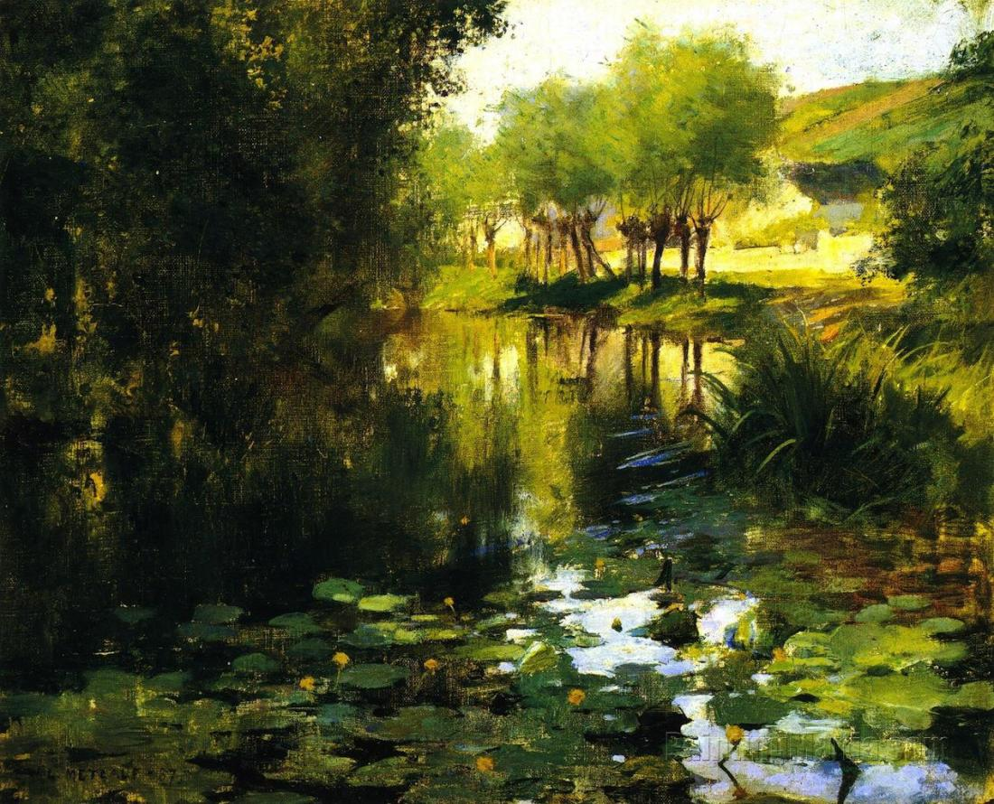 """The Lily Pond."" 1887. Oil on canvas."