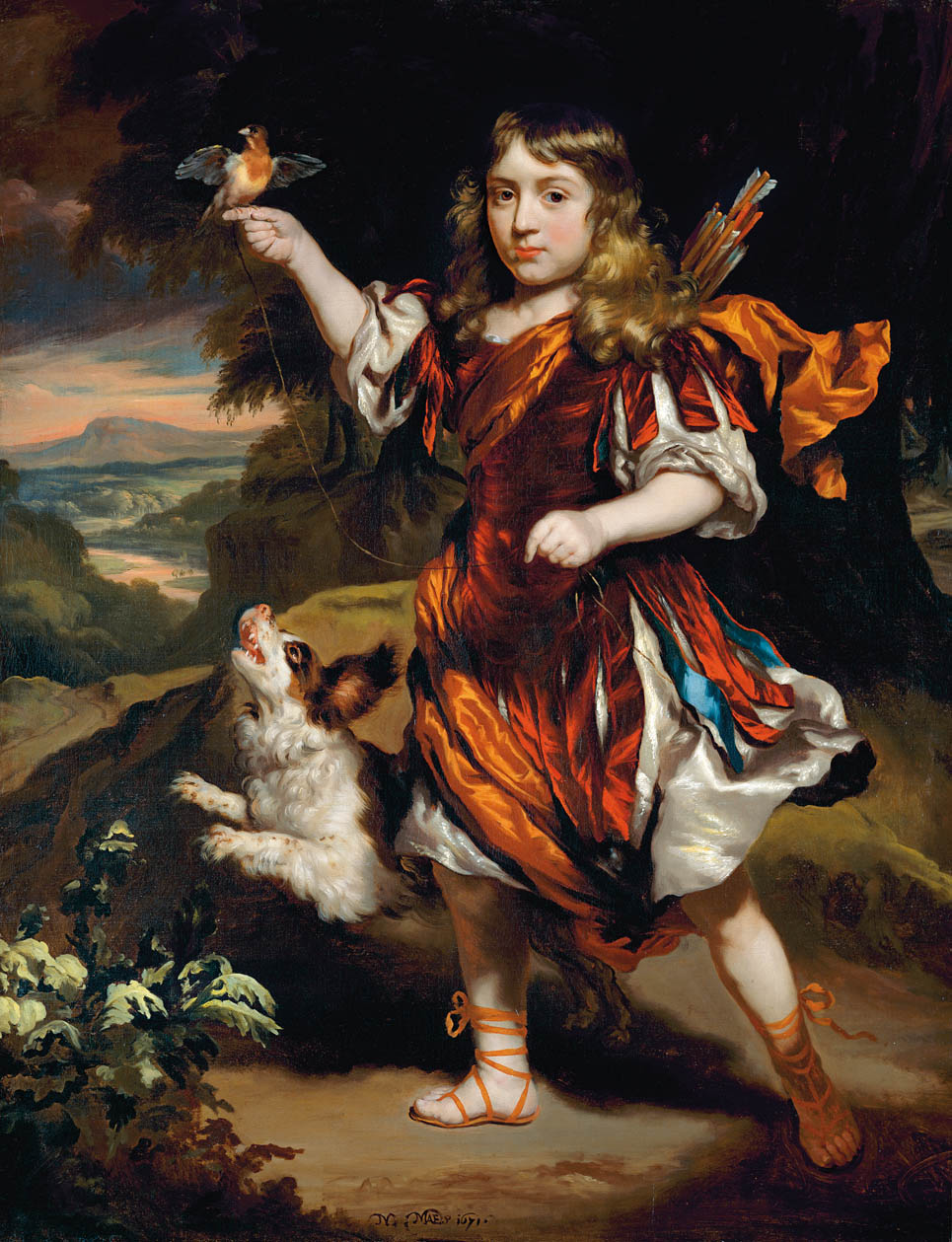"""Portrait of a Boy as a Hunter."" 1671. Private collection."