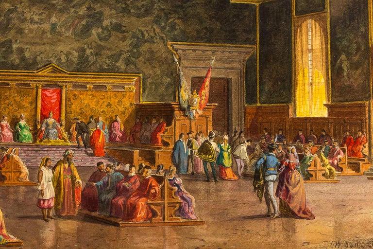 """La salle de Grand Council."" ca. 1850."