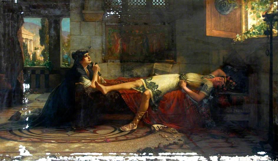 Schmalz, Herbert Gustave, 1856-1935; Saint Monica's Prayer