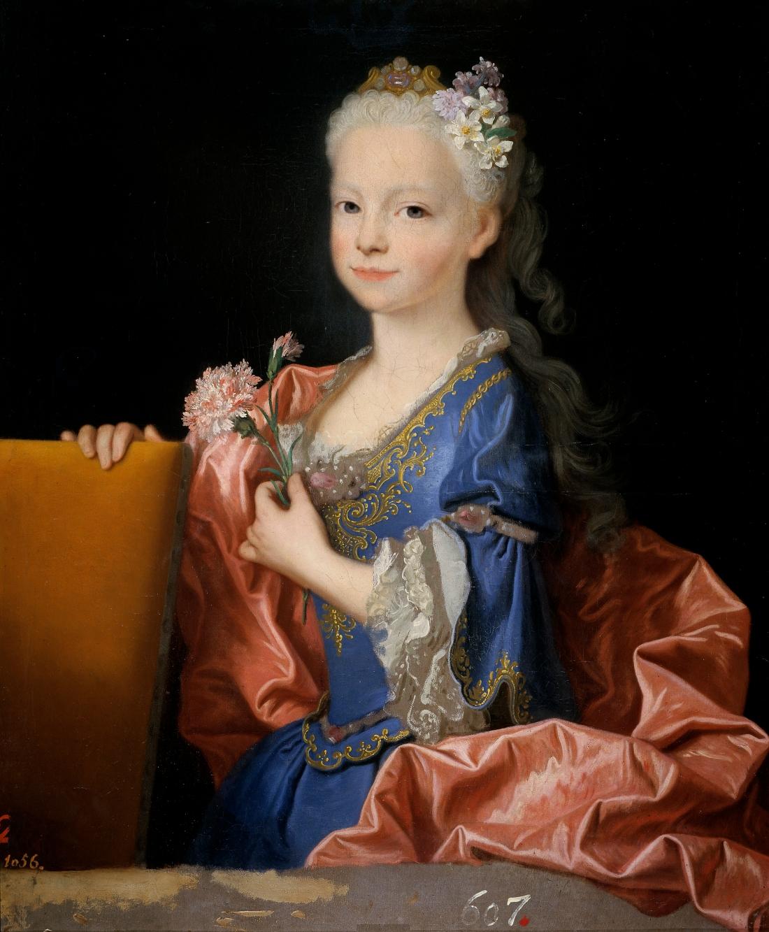 """""""María Ana Victoria de Borbón, niña."""" July-December, 1725."""