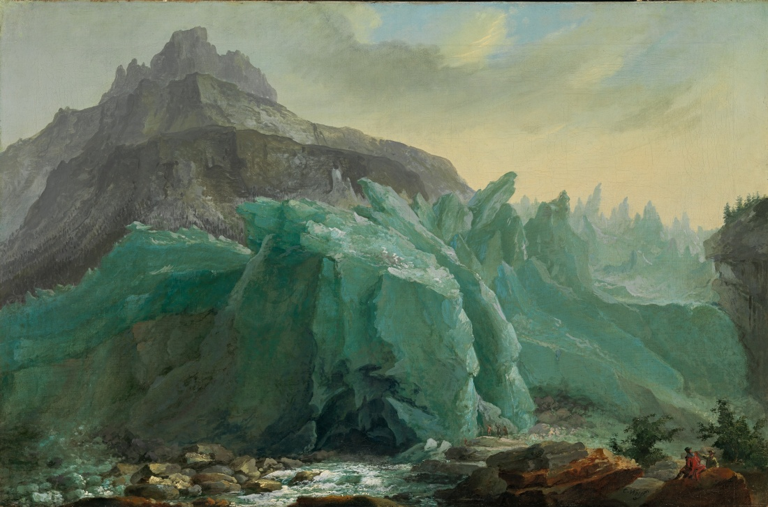 """Lower Grindelwald Glacier, with the Lütschine River and Mettenberg."" ca. 1775. Oil on canvas."