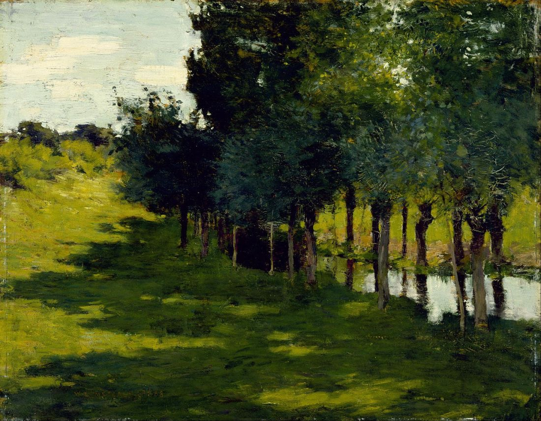 """Sunlight and Shadow."" 1888. Oil on panel."