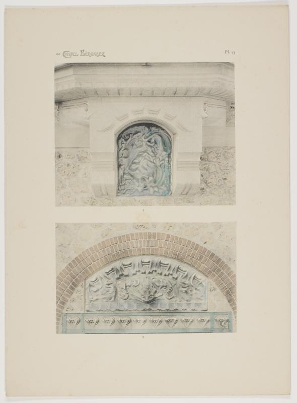 """""""Detail de l'encorbellement du bow-window sur grande cour (Second corps de batiment)."""" Plate 17."""