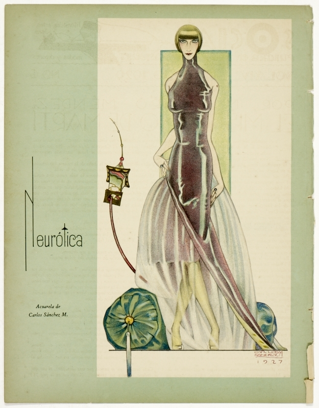 """Neurótica."" 1927. Design by Massaguer."