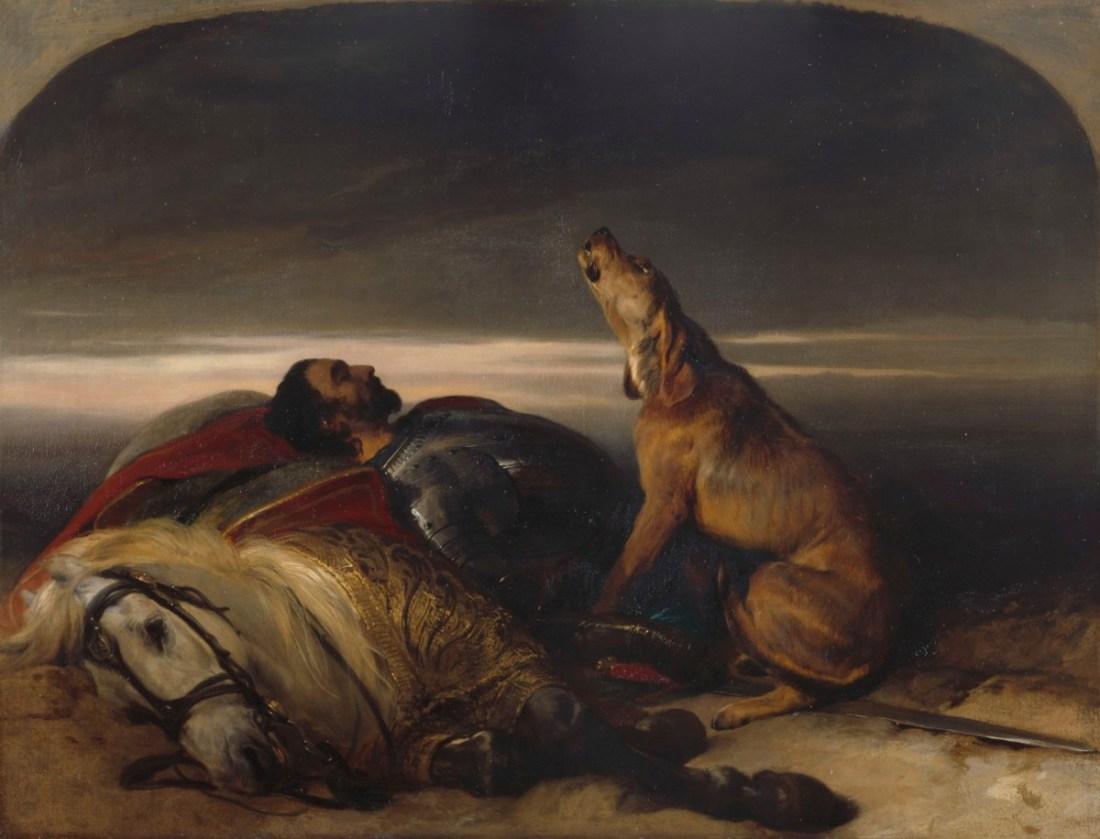 """""""The Faithful Hound."""" ca. 1830. Oil on canvas."""