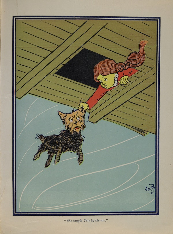 """She caught Toto by the Ear."""