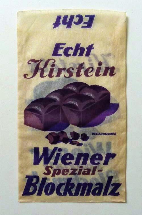 Purple cough drops. Vintage. Public domain. via .