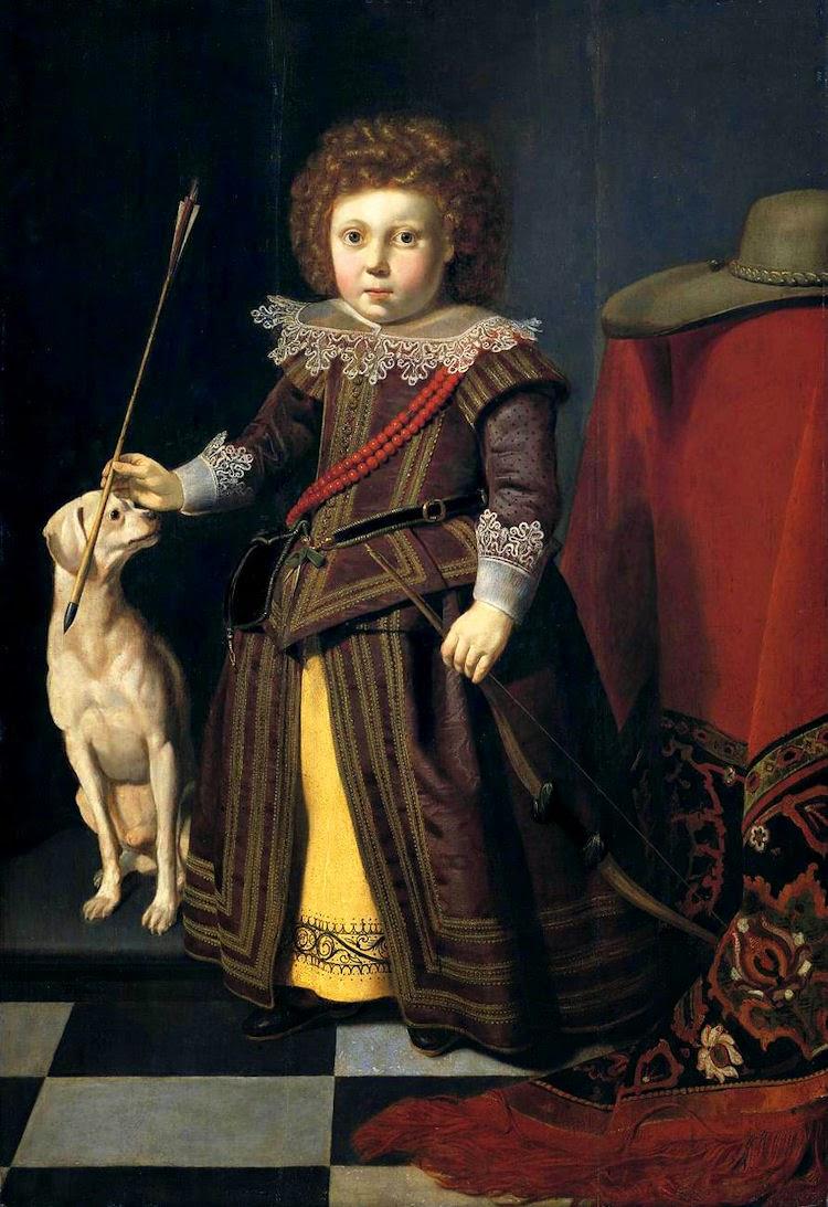 1600s Thomas de Keyser (Dutch painter, c. 1596–1667) Portrait of a Young Boy