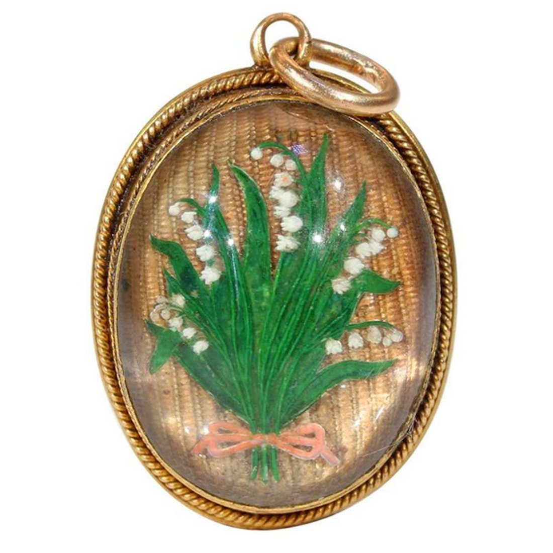 Lily of the valley pendant.