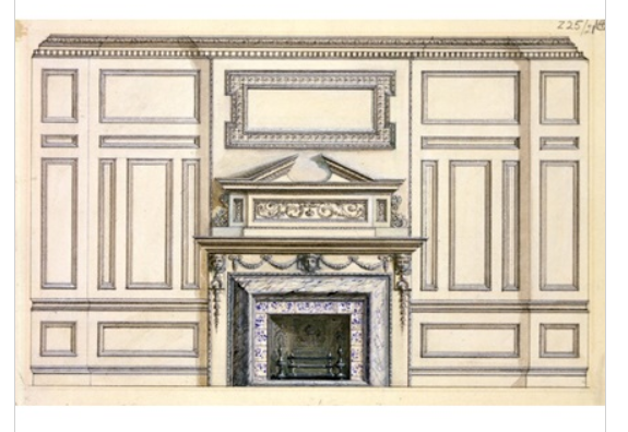 central chimneypiece in the smoking room
