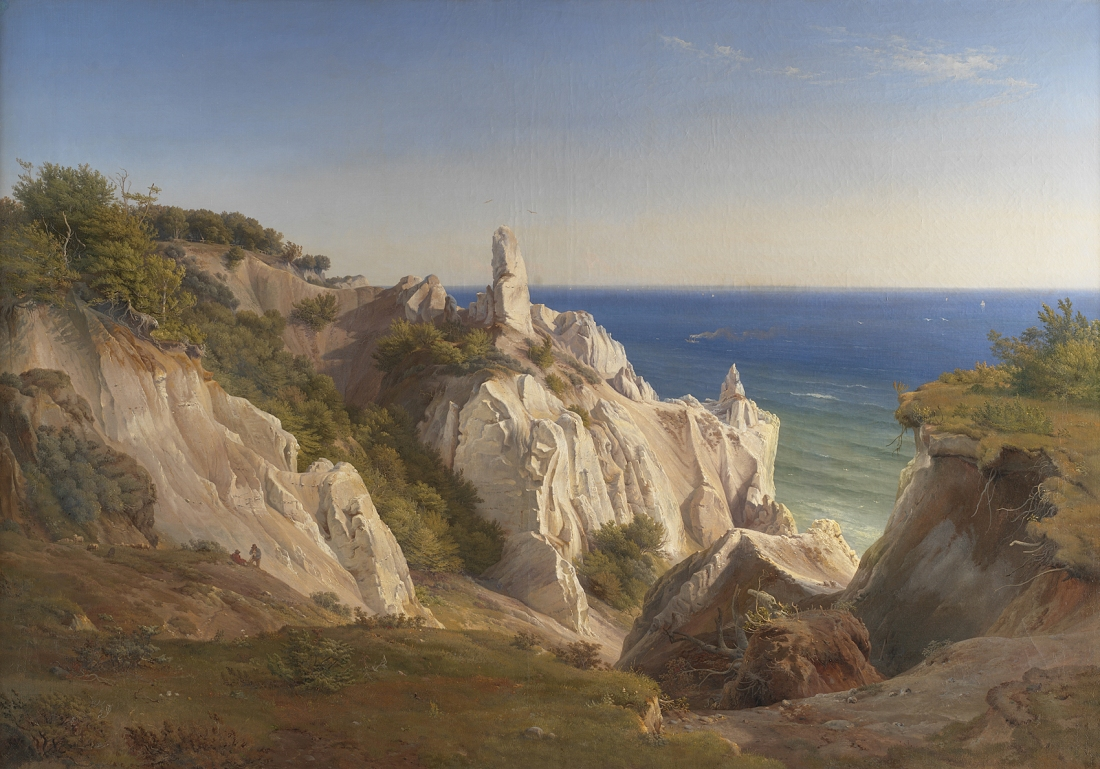 """The Cliffs of the Island of Møn."" 19th c."