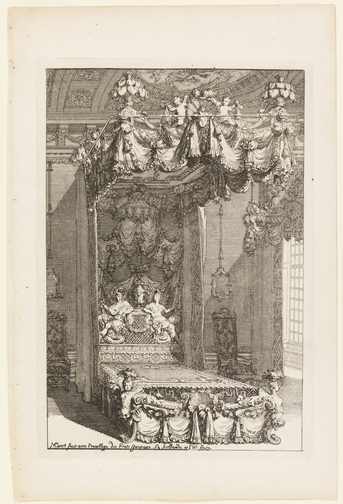 Print, Design for a State Bedchamber, from Second Livre dAppartement (Second Book on Interiors), ca. 1702