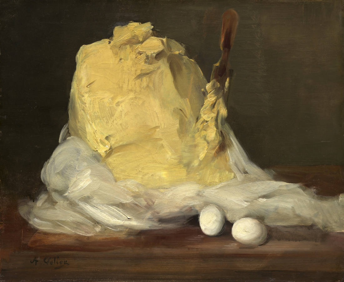 """Mound of Butter."" 1875-1885. Oil on canvas."