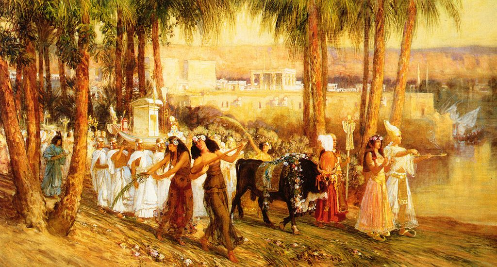 """""""Procession in Honor of Isis."""" 1902. Oil on canvas."""