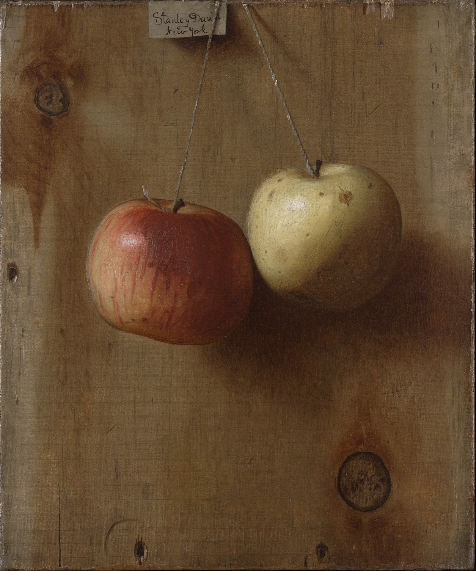 """""""Two Hanging Apples."""" ca. 1890."""