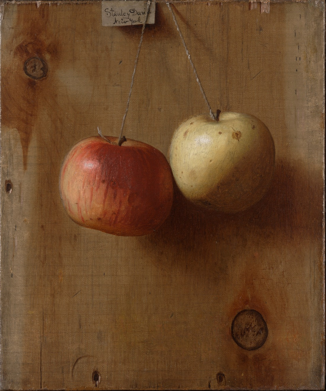 """Two Hanging Apples."" ca. 1890."