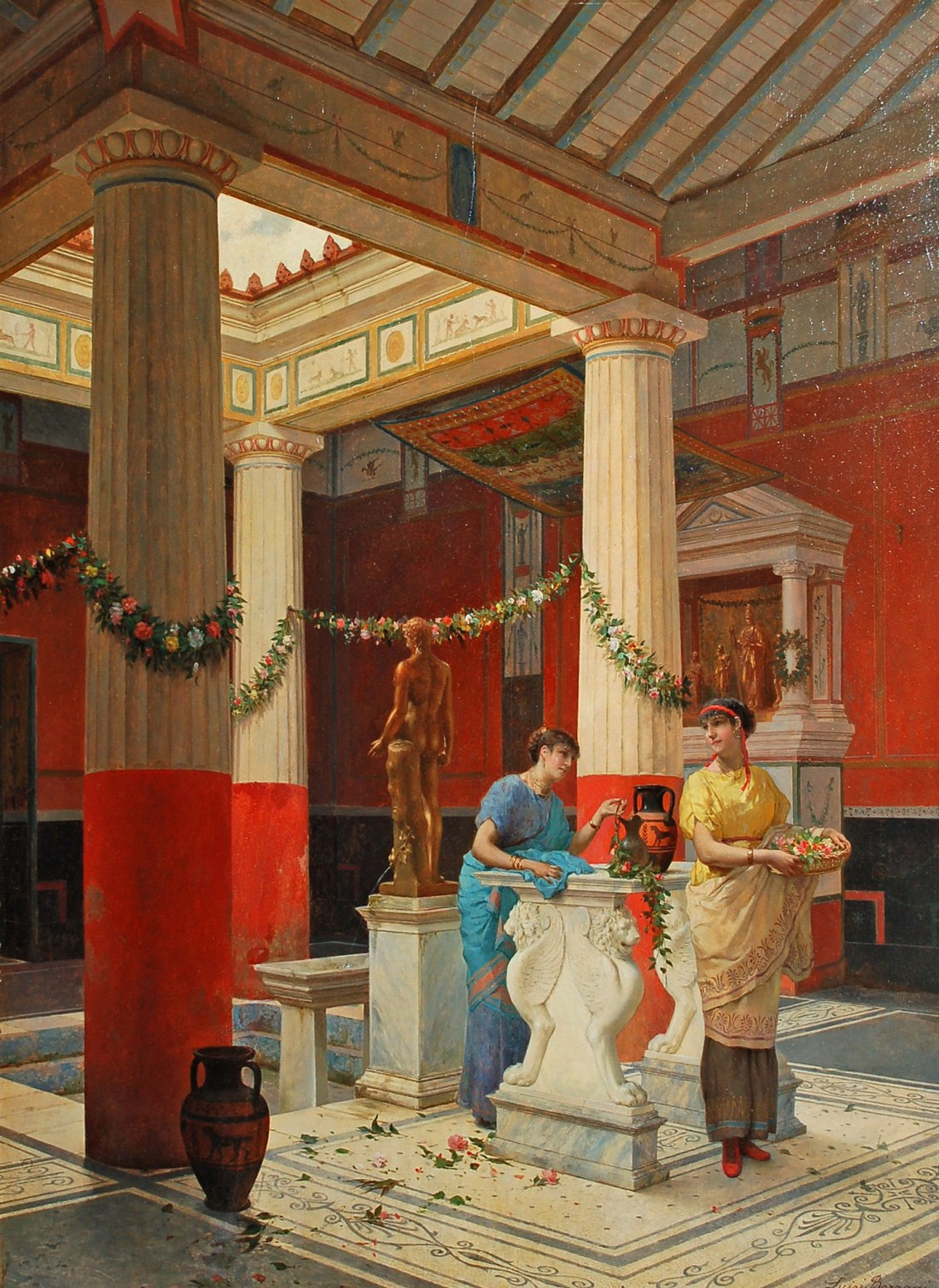 """""""Decorating the Temple."""" 1887."""