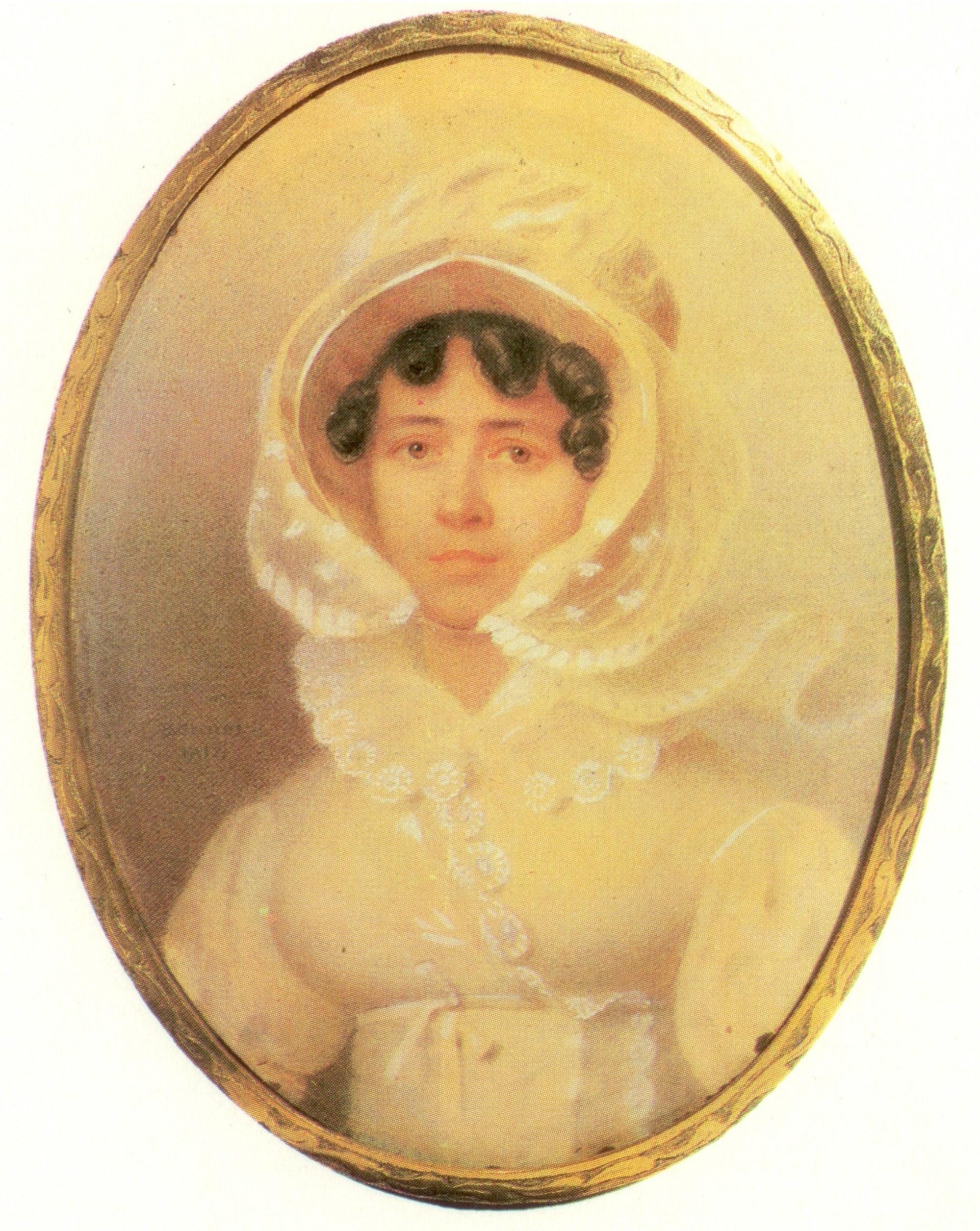Miniature of Ekaterina Alexseevna Uvarova (1783-1849). 1817.