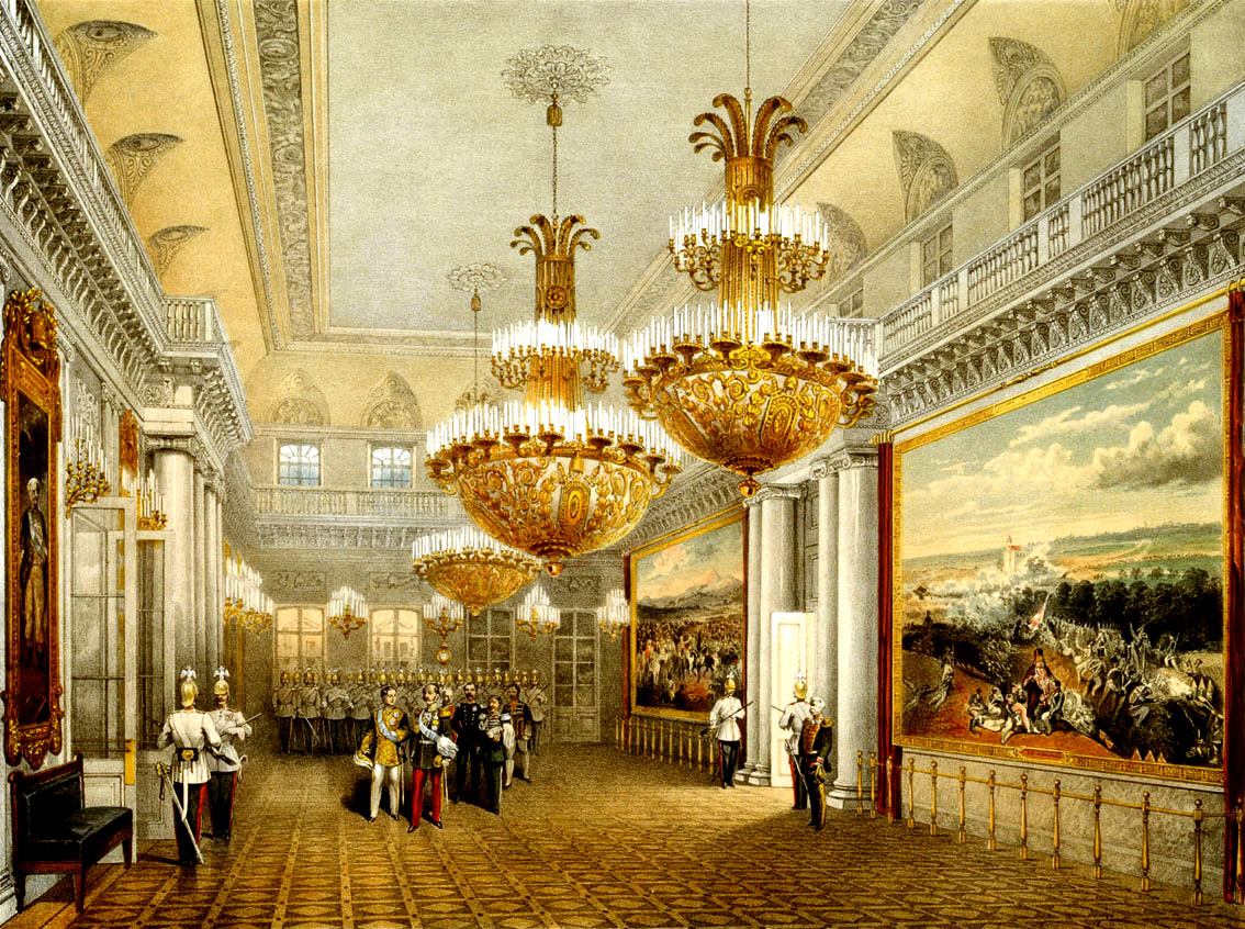 The Field Marshal's Hall of the Winter Palace. 1852.