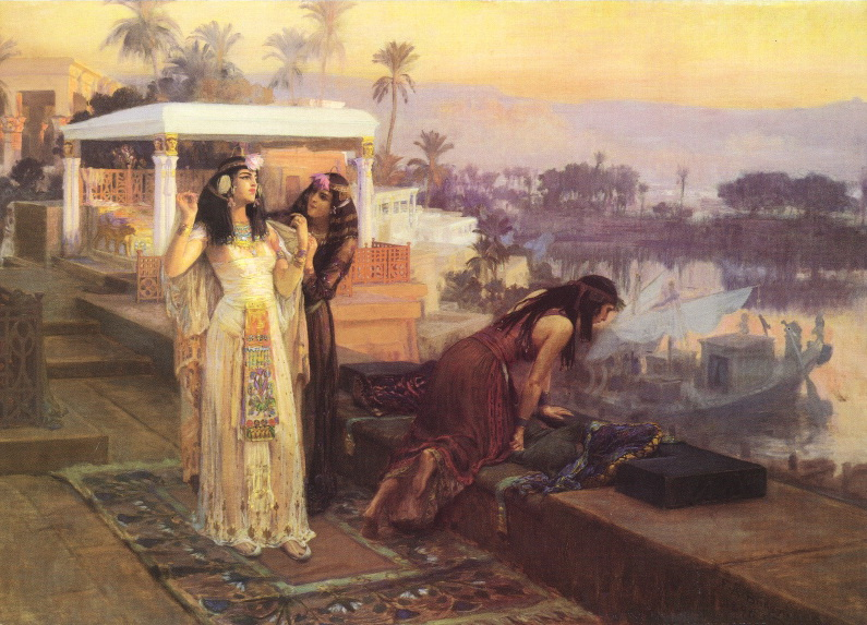 """""""Cleopatra on the Terraces of Philae."""" 1896. Oil on canvas."""