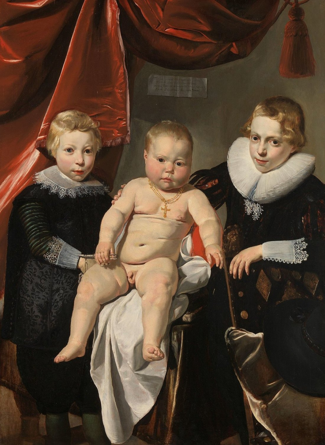 """""""Group Portrait of Three Brothers."""" ca. 1627-32."""