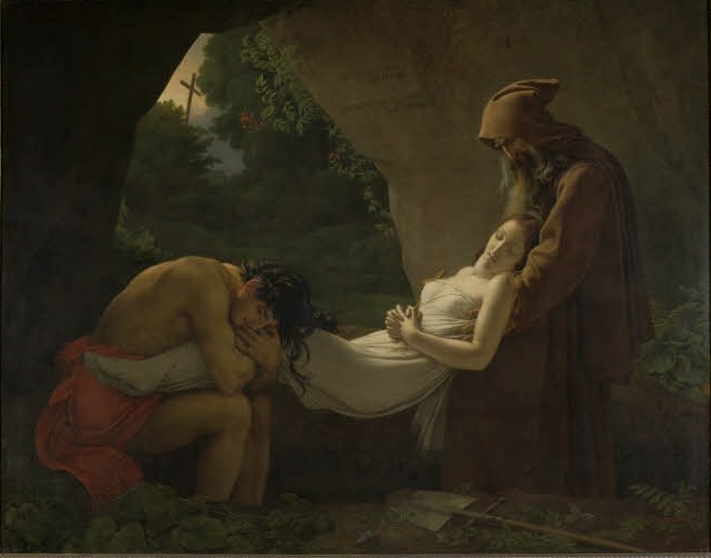 """""""The Entombment of Atala."""" Shown at the Salon in 1808."""