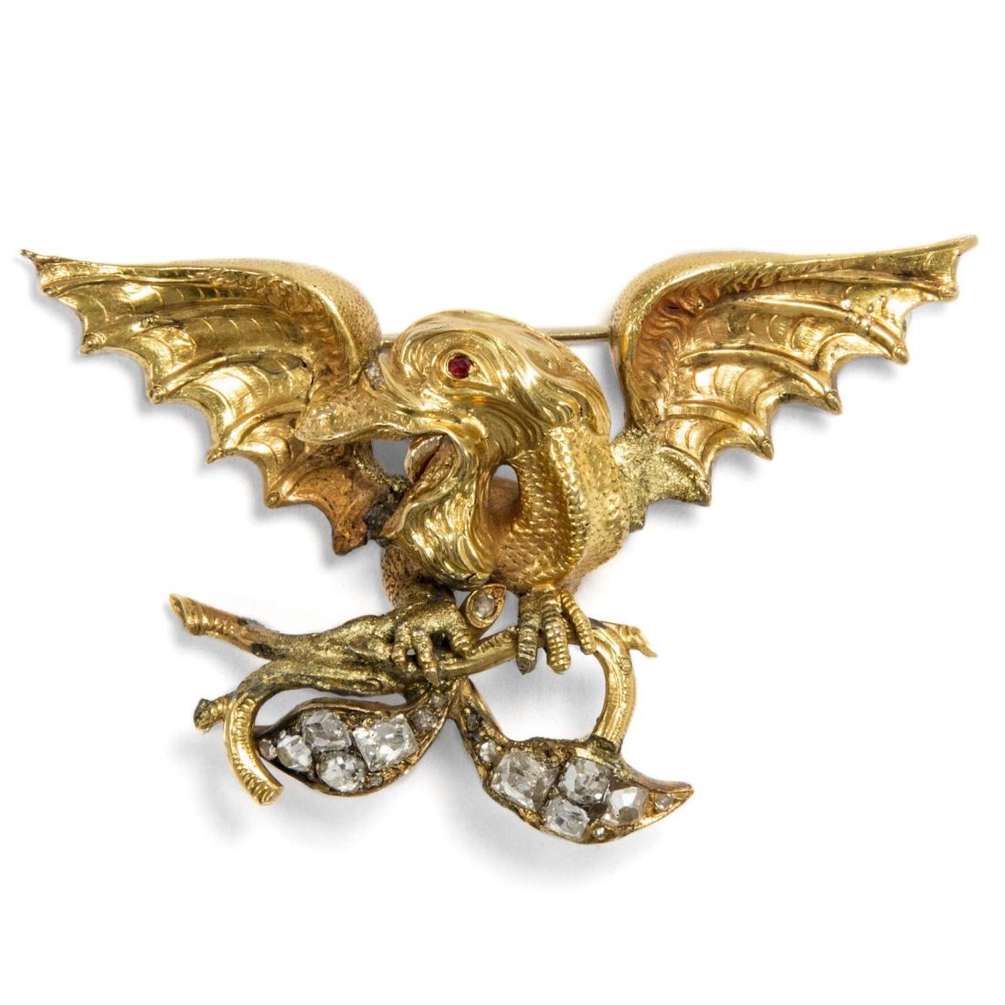 Dragon or basilisk brooch