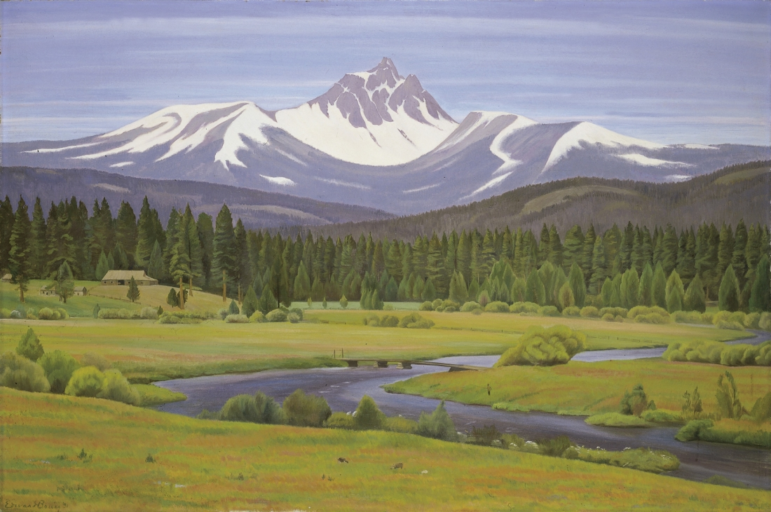"""In the Cascade Mountains."" 1931. Oil on canvas."