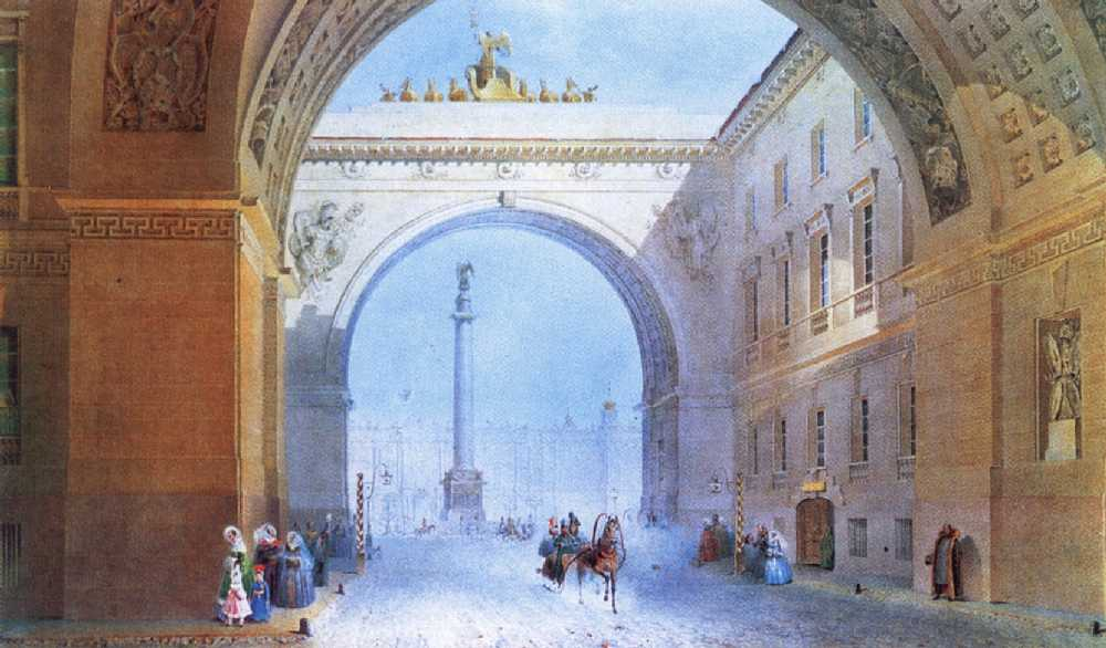 """Arch of the General Staff building."" 1830s."