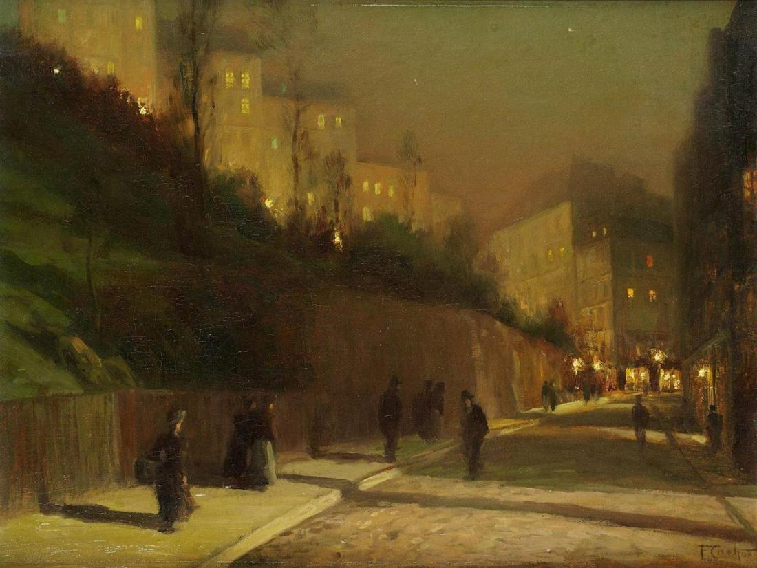 """Rue Saint Vincent in Montmartre at Night."""