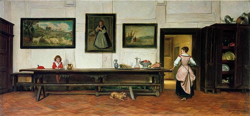 """Interior of a Dining Hall."" 1866."