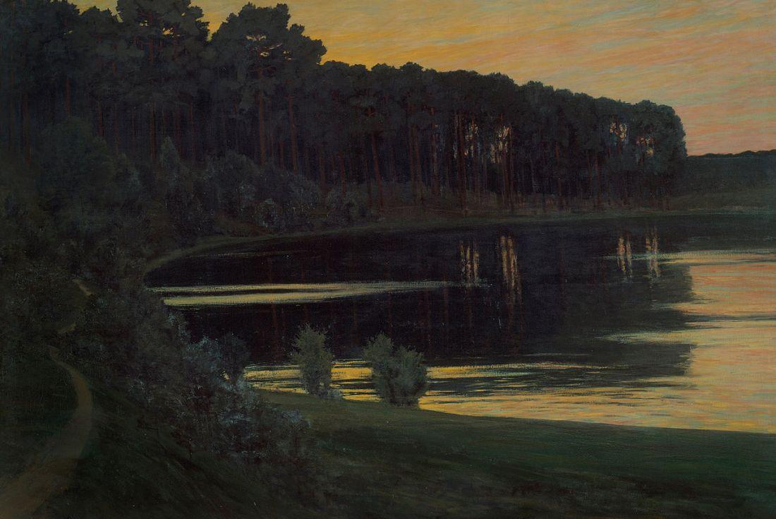 """""""Grunewaldsee."""" 1895. Oil on canvas."""