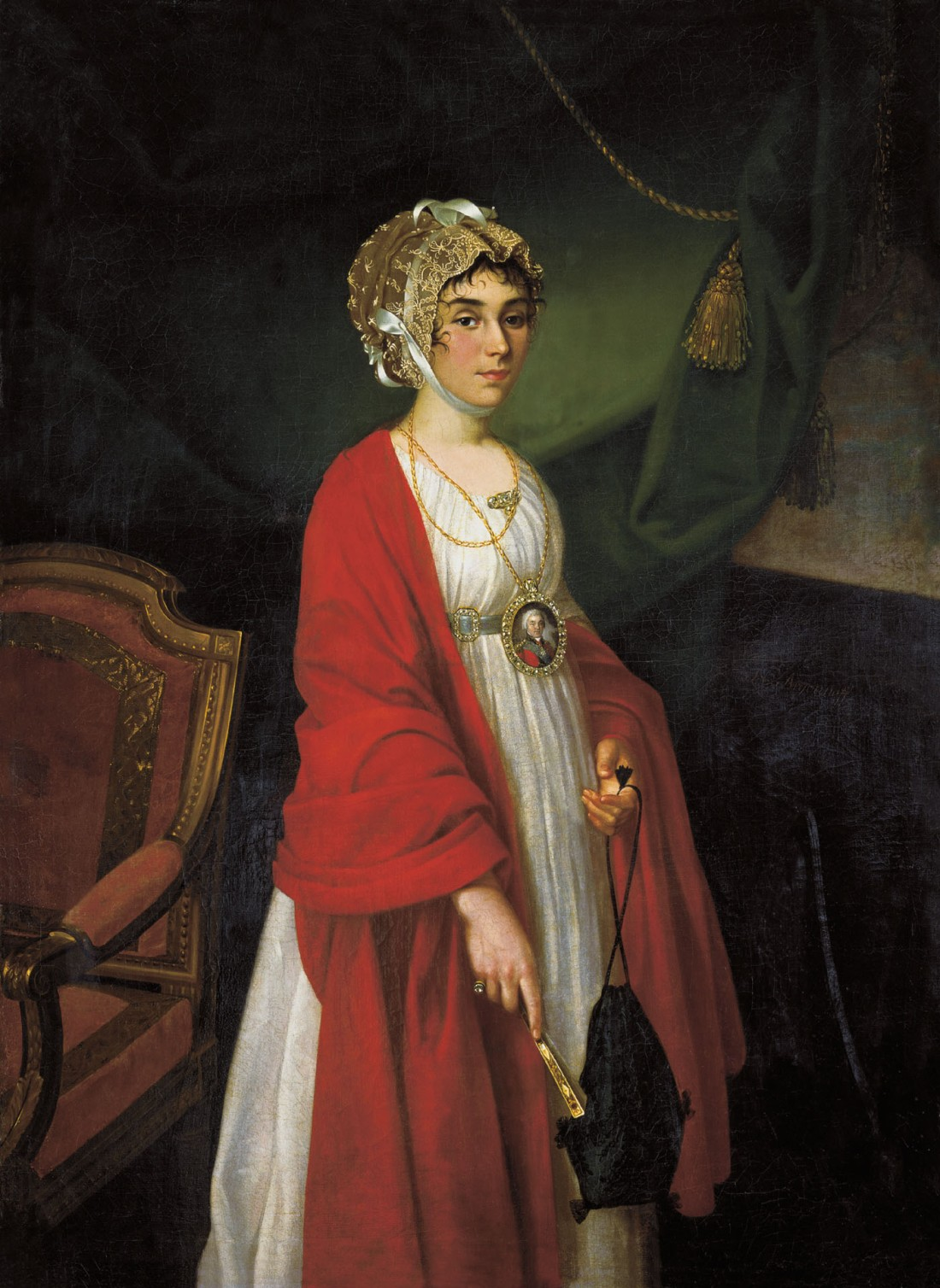 Portrait of Praskovya Ivanovna Zhemchugova-Sheremeteva. 1803.