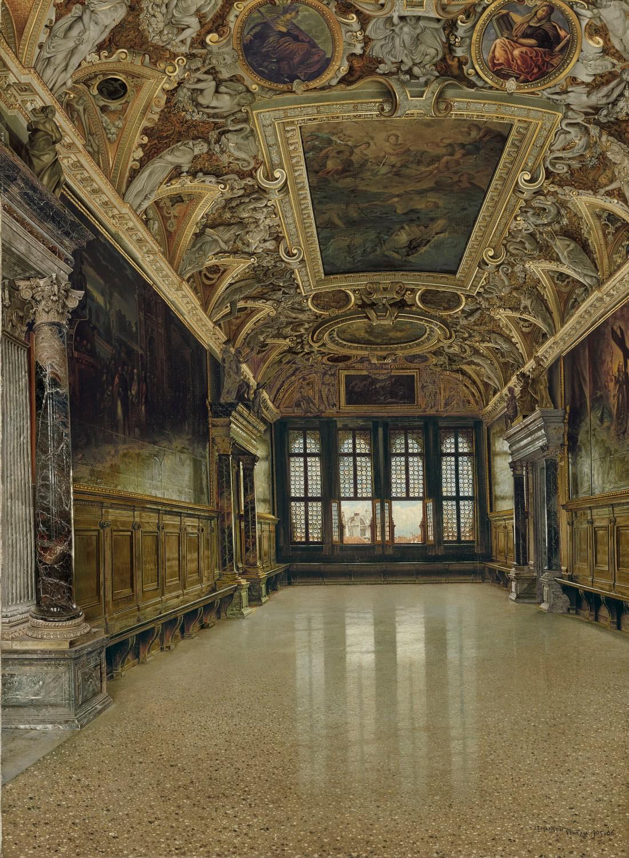 """""""The Sala delle Quattro Porte, Doge's Palace, Venice."""""""