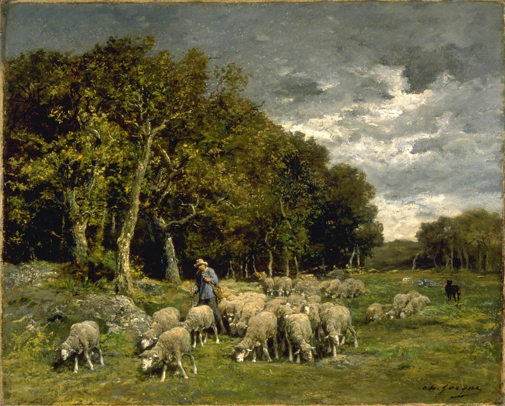 """""""Landscape with Sheep."""" After 1848."""