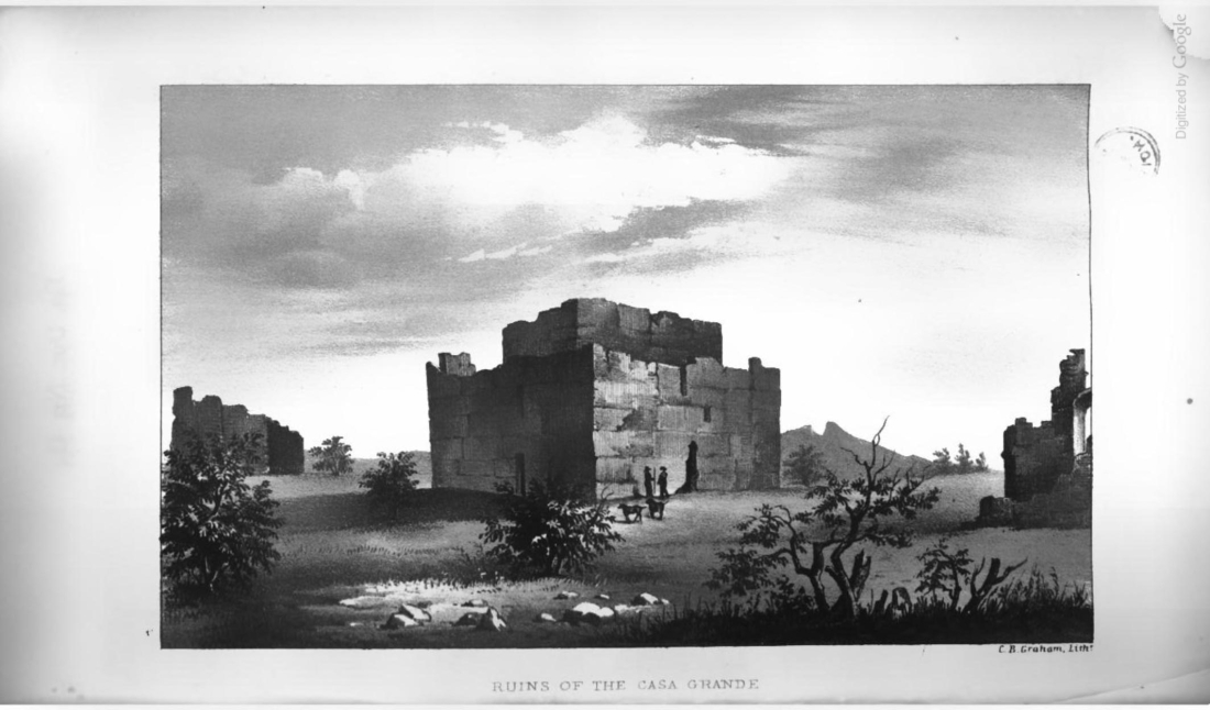 """Ruins of the Casa Grande.""  Page 110."
